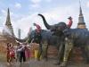 Songkran Festival at Phra Si Sanphet Temple in Ayutthaya Historical Park, Phra Nakhon Si Ayutthaya